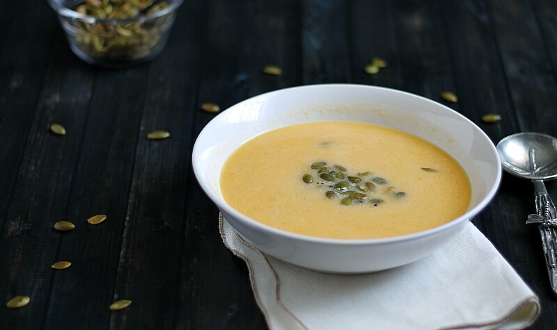 Butternut Squash Soup with Roasted Pepitas