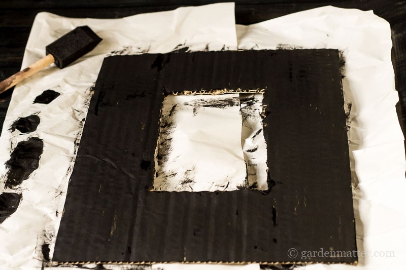 Cardboard Frame Painted Black ~ Kitchen Spice Wreath ~ gardenmatter.com
