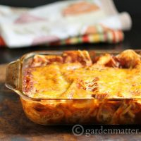 This recipe for easy chicken enchiladas makes great leftovers and freezes well too.