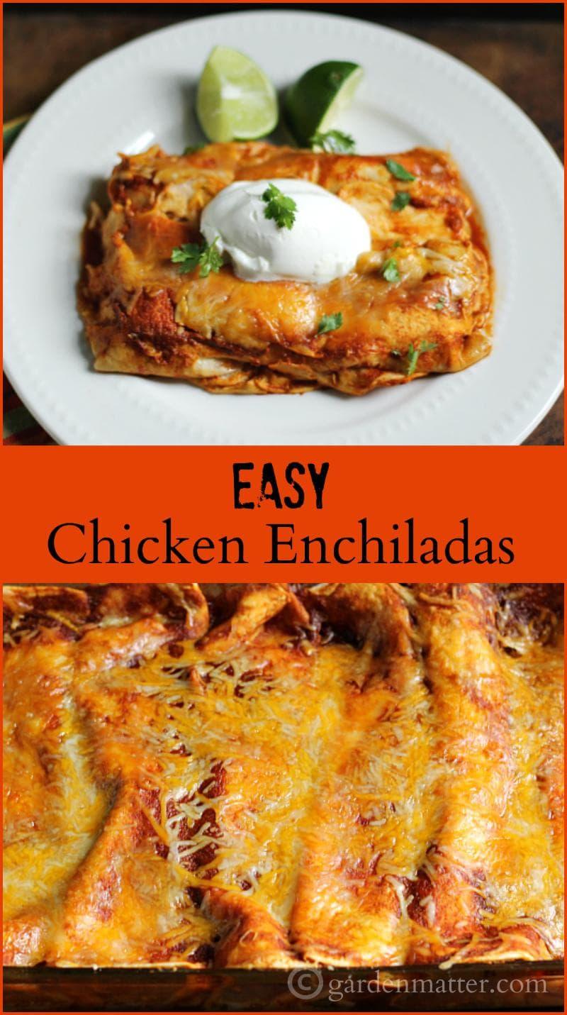 Chicken Enchilada collage