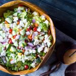 Colorful Chopped Salad ~ Classic Chopped Salad ~ gardenmatter.com