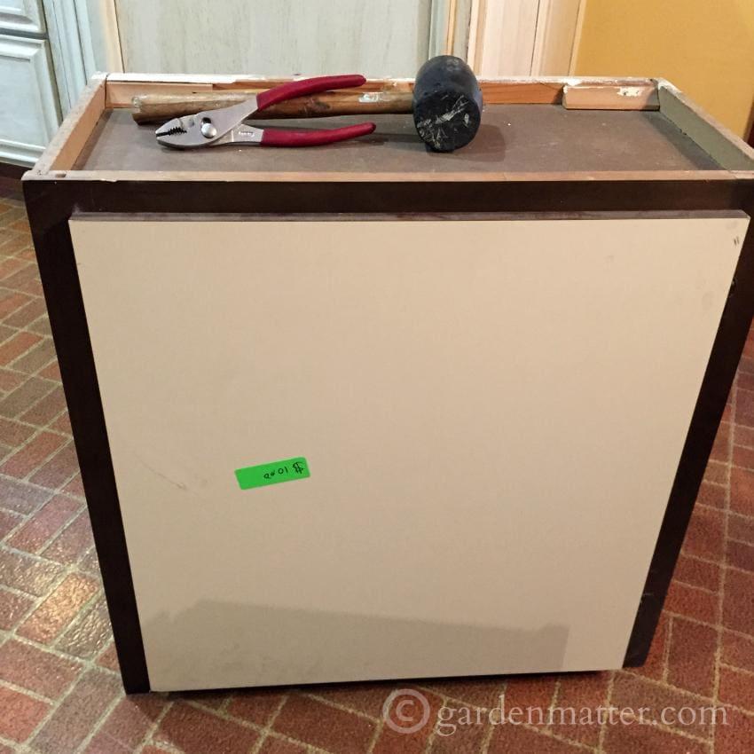 Construction Junction Cabinet ~DIY Office Desk ~ gardenmatter.com