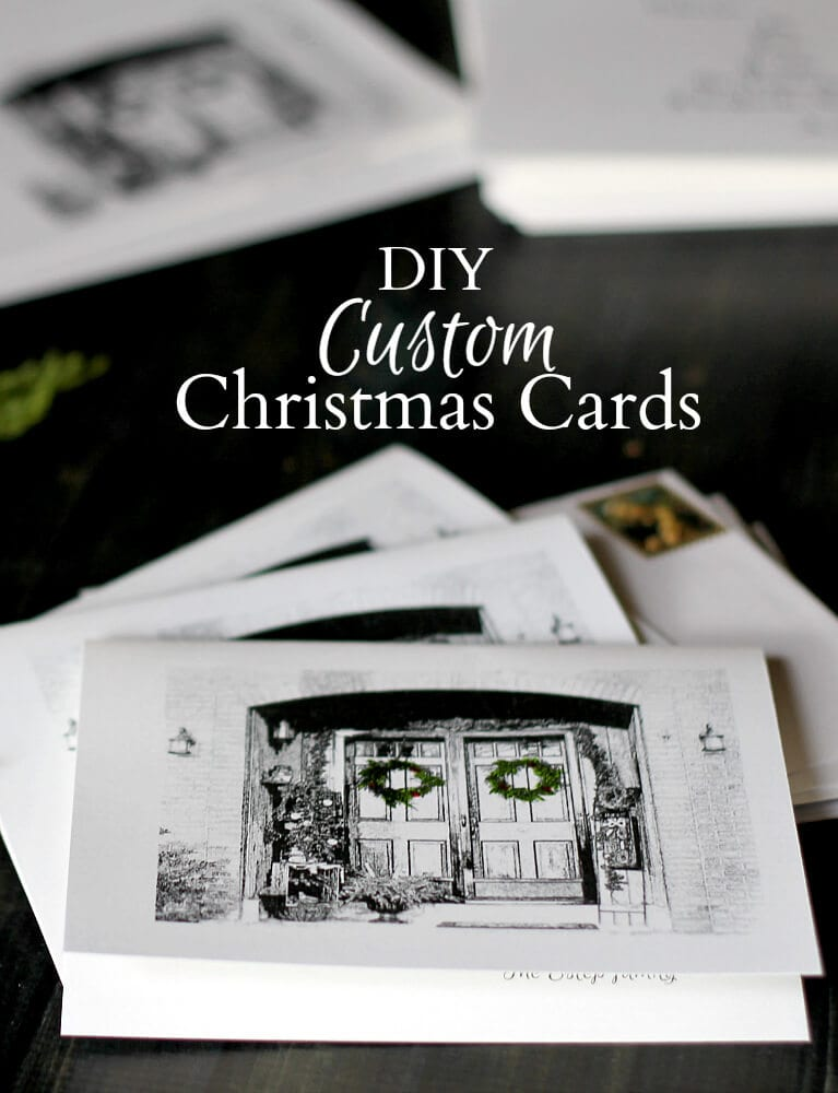 Custom Christmas Card pin - gardenmatter.com