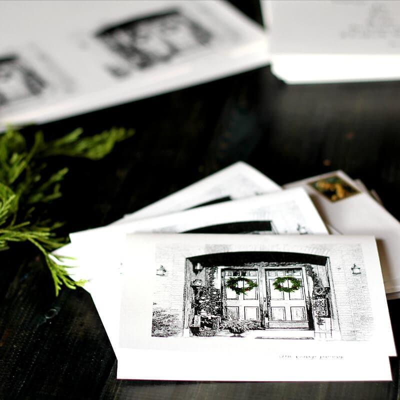 DIY Custom Christmas Card final sq - gardenmatter.com