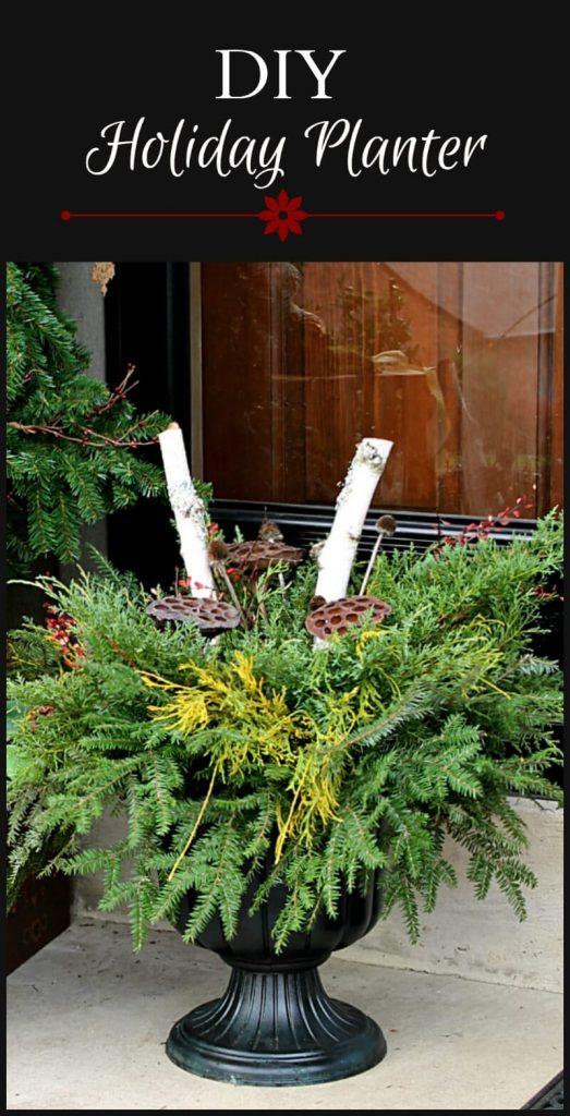 DIY Holiday Planter tutorial