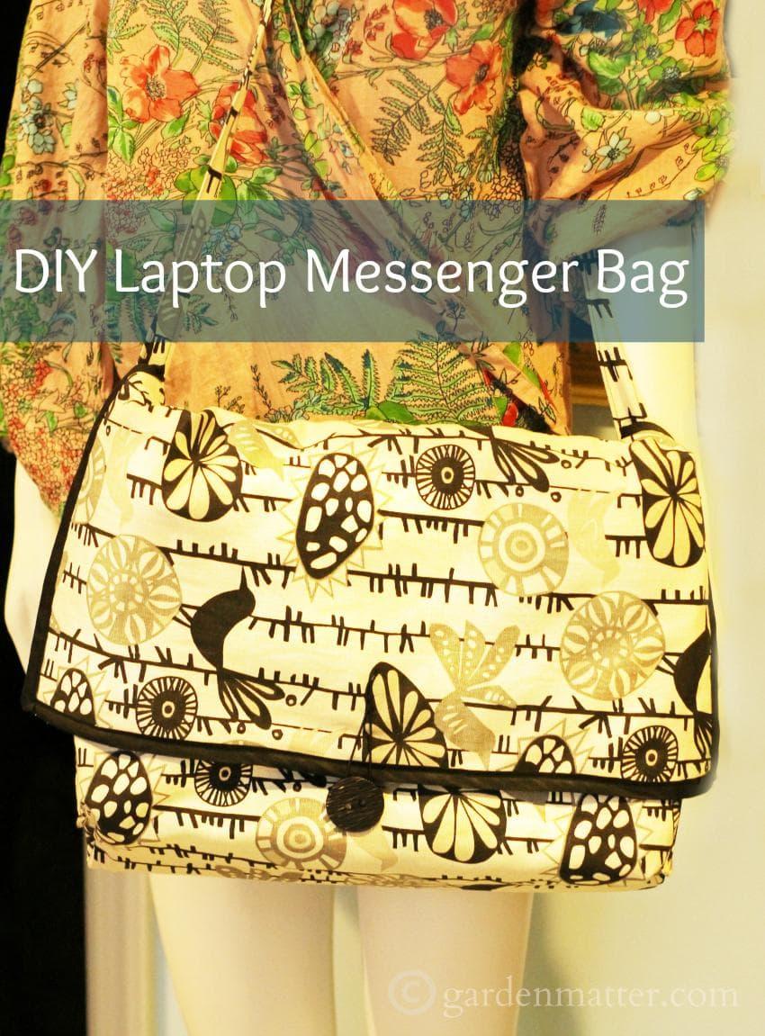 DIY Messenger Bag ~gardenmatter.com