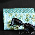 Enjoy this quick and easy quilted sunglass case tutorial.