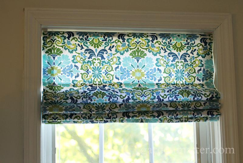DIY Roman Shade from Miniblind ~ Top 10 posts of 2015 ~ gardenmatter.com