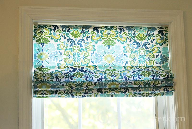 DIY Roman Shade from Mini Blinds