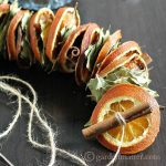 Dried Orange Garland with Fragrant Botanicals