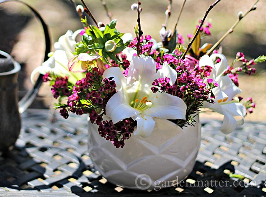 Easter Lily Centerpiece ~ Easter Lilies ~ gardenmatter.com