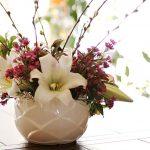 Easter Lily Centerpiece inside ~ gardenmatter.com