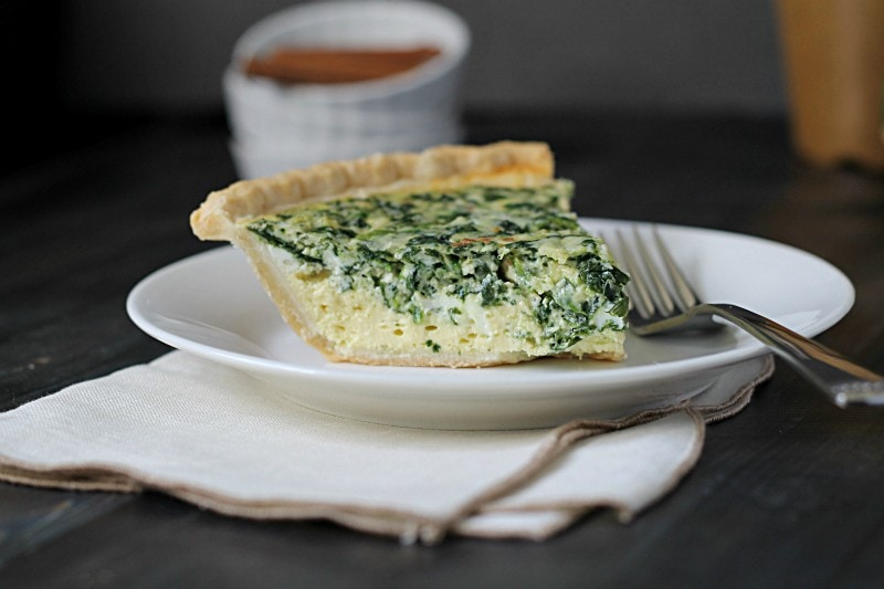 This recipe for super easy holiday quiche is a time saver, a great basic, and can be made any time of year. Great for breakfast, lunch or dinner.