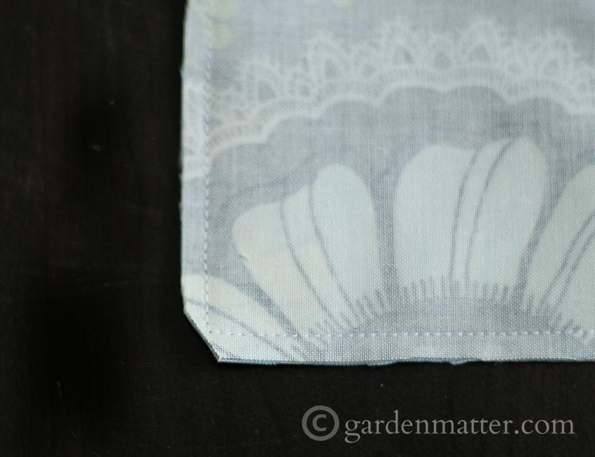 Cut corner when making fabric card holder