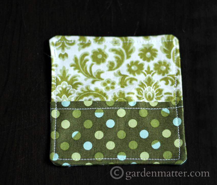 Finish project of the fabric card holder.