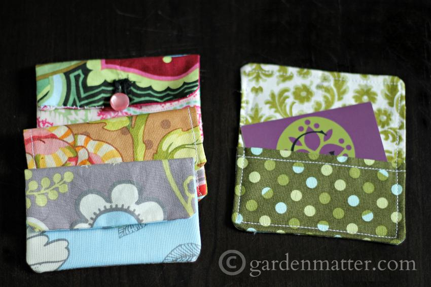 Easy Fabric Card Holders Tutorial