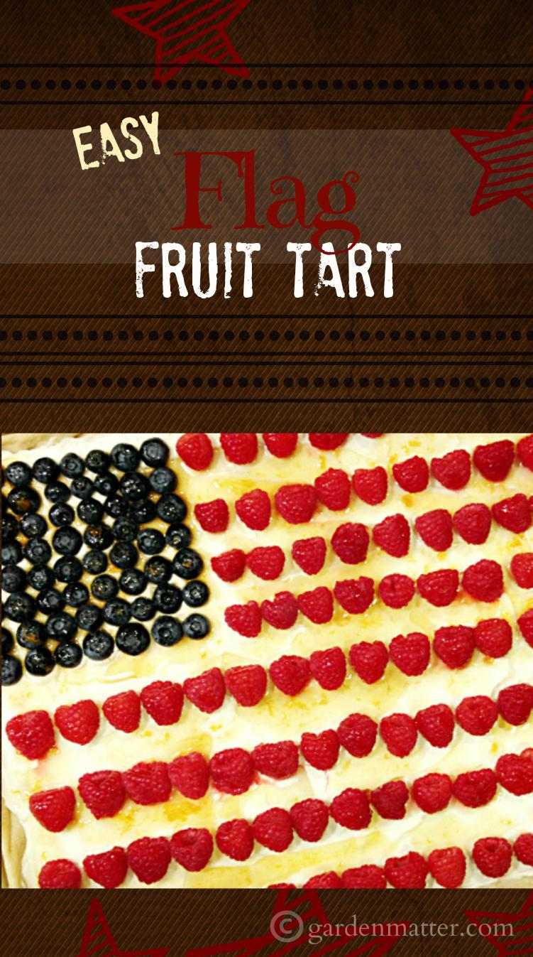 This flag fruit tart is a big hit at parties and can be decorated a number of ways with fresh fruit.