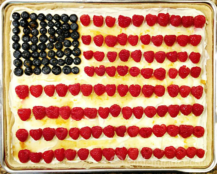 This simple recipe for a flag fruit tart is a big hit at parties and can be decorated a number of ways with fresh fruit.