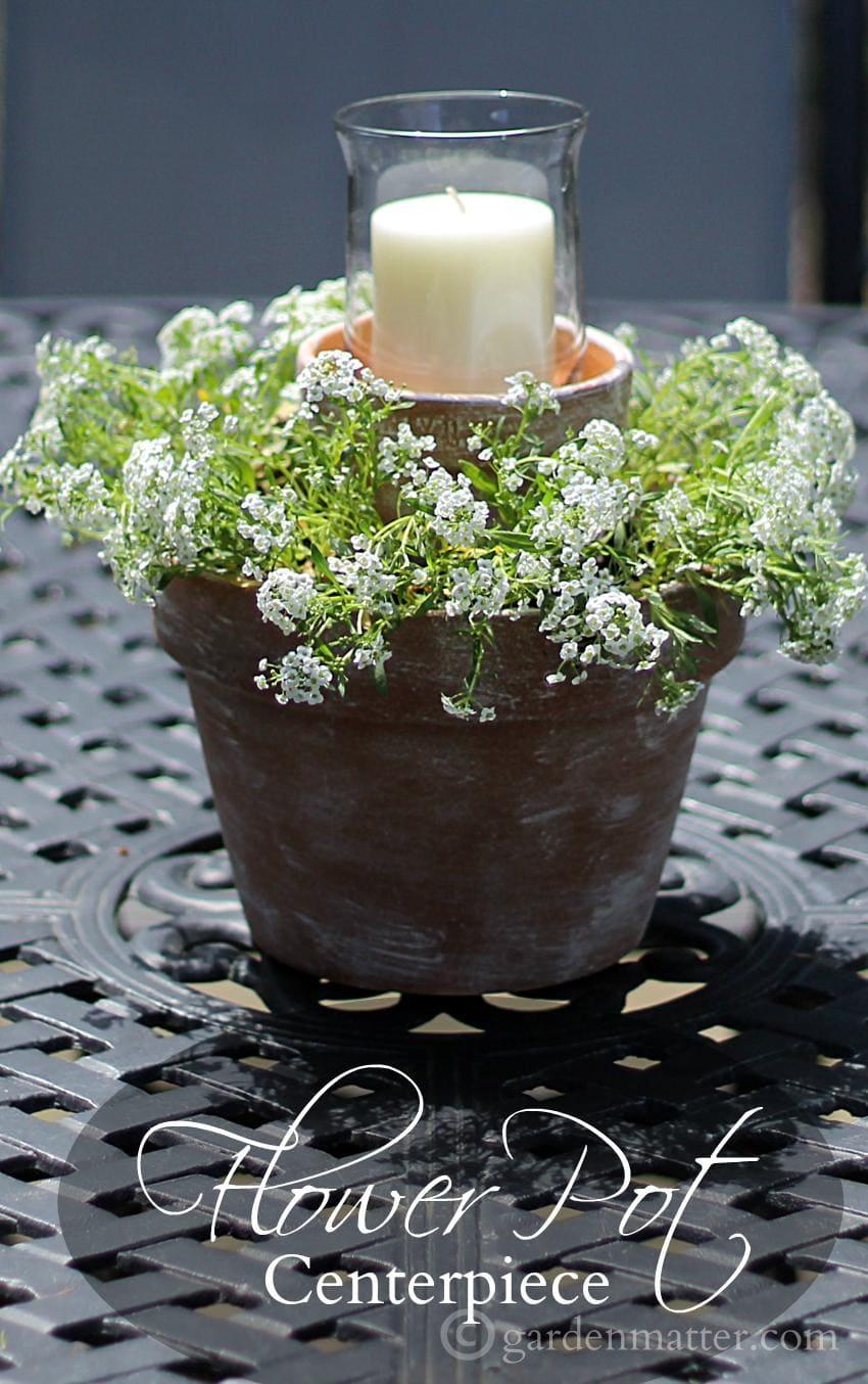 Candle Flower Pot ~ Flower Pot Centerpiece ~ gardenmatter.com