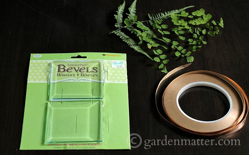 Materials to make pressed flower glass coasters