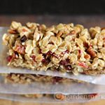 Take your favorite granola recipe and turn it into a bar that you can grab on the go.