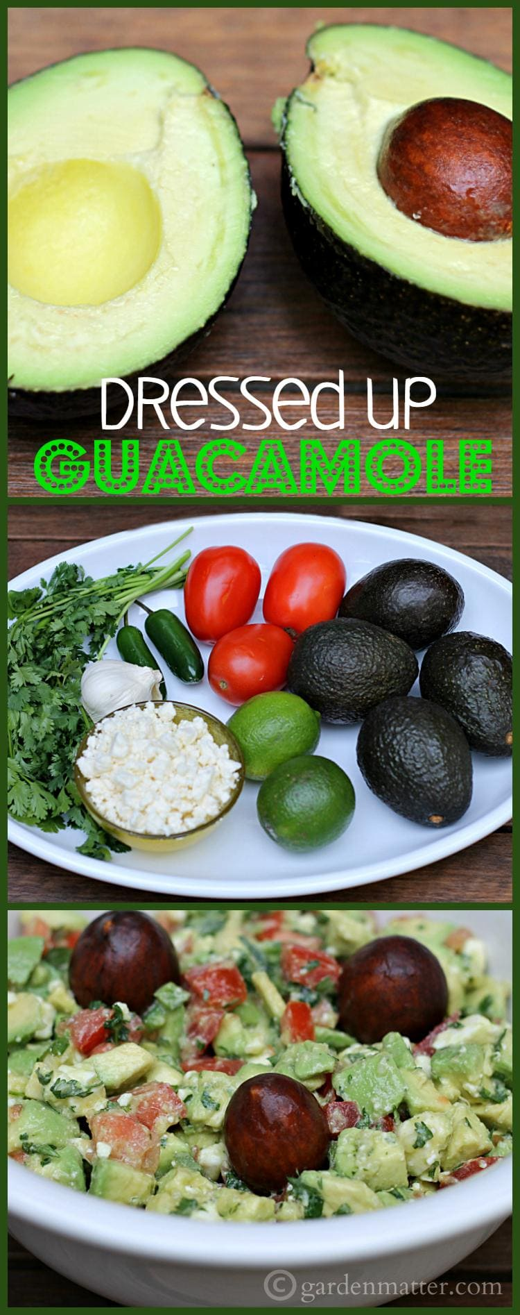 "Here's a recipe for guacamole that is ""dressed-up"" with feta cheese and hot peppers. Great for a party or a Mexican themed dinner."