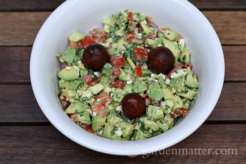 Fancy guacamole in a serving bowl