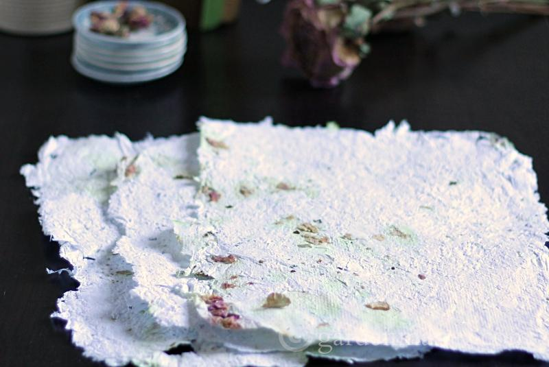 Handmade paper is easy to make and creates a one of kind look.