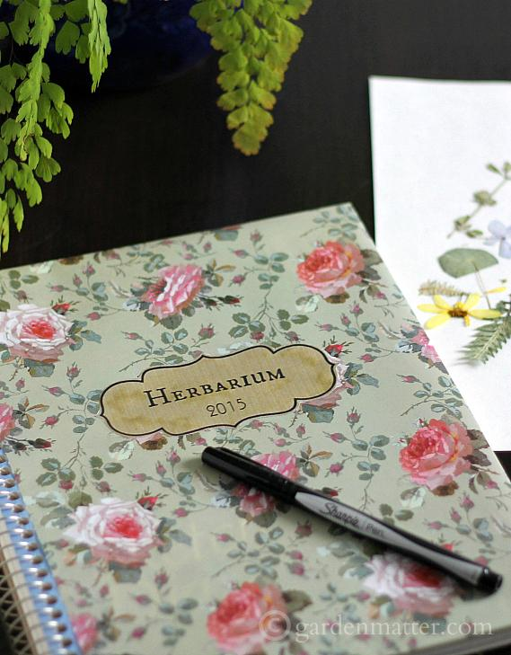 What's an Herbarium journal? I'll tell you what it is, where it came from and how you can make you own. ~ gardenmatter.com