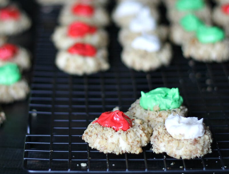 This thumbprint cookie recipe with buttercream icing is an extra special treat that freezes well for any time of year.
