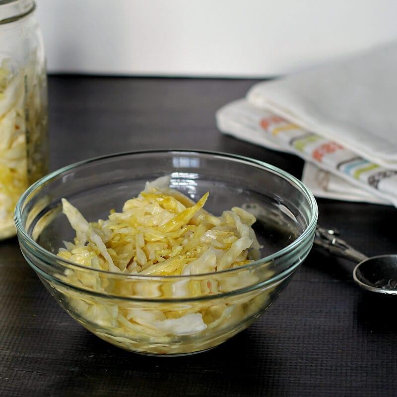 DIY Sauerkraut in a bowl