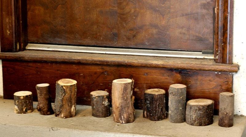 Lining up log candlesticks
