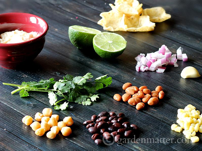 Ingredients - 3 Bean Party Dip - gardenmatter.com