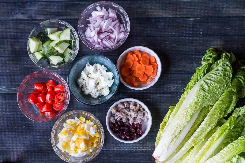 Ingredient Suggestions ~ Classic Chopped Salad ~ gardenmatter.com