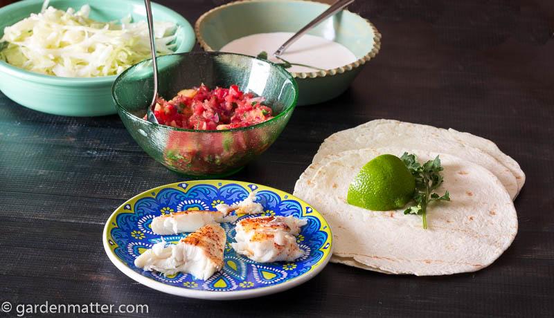 Ingredients ~ Fish Tacos ~ gardenmatter.com