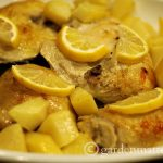 Lemon Garlic Chicken with Roasted Potatoes ~gardenmatter.com