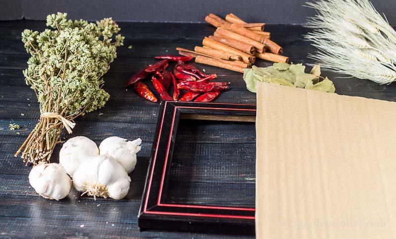 Materials ~ Kitchen Spice Wreath ~ gardenmatter.com