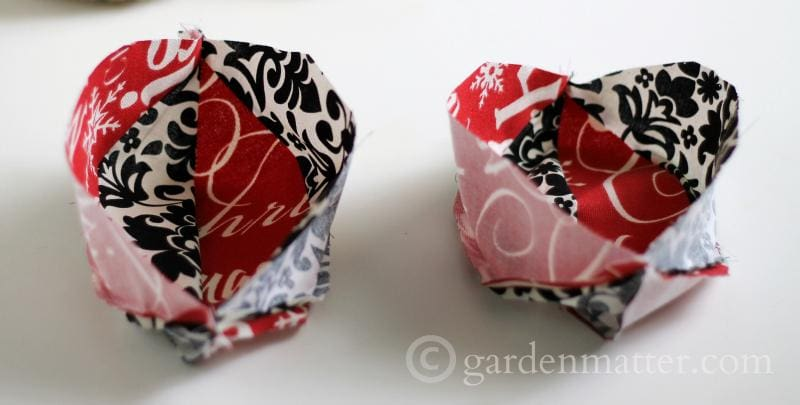 Learn how to make mini pouf ornaments with pretty fabric to brighten your tree.