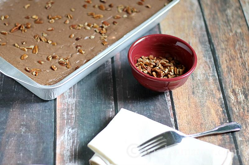 Chocoholics rejoice in this recipe for a decadent dessert that's simple to make and serves many.