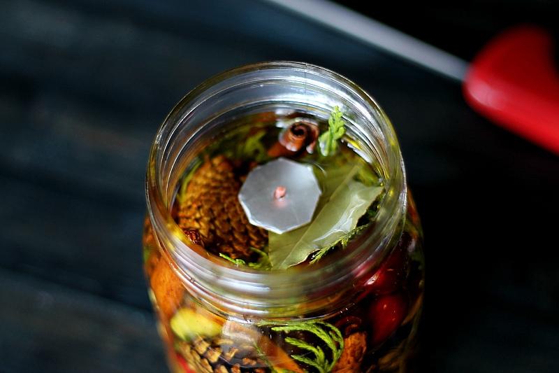 Mason Jar Oil Candle Lamp Floating Wick