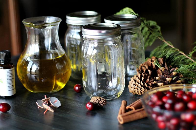 Mason Jar Oil Candle Lamp materials.