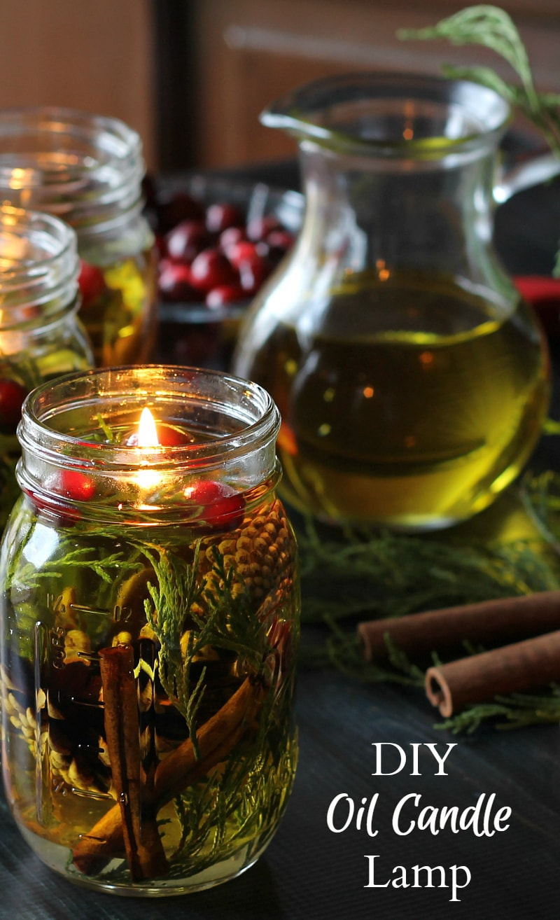 Learn how to make these mason jar oil candles by following this eay tutorial.