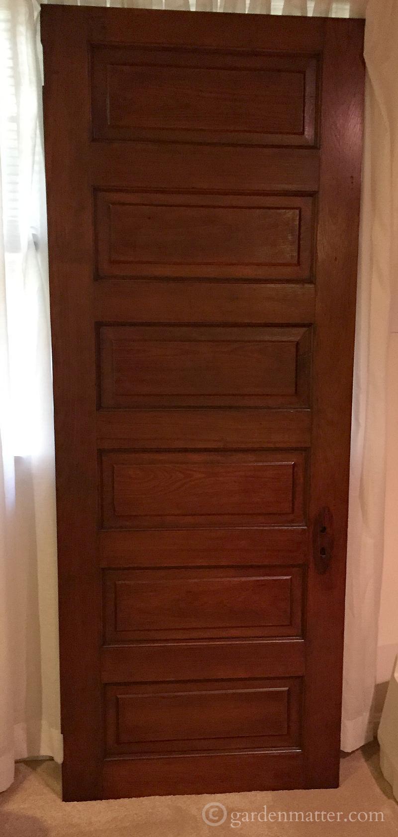 Thrift Shop Door - New uses for old doors - gardenmatter.com