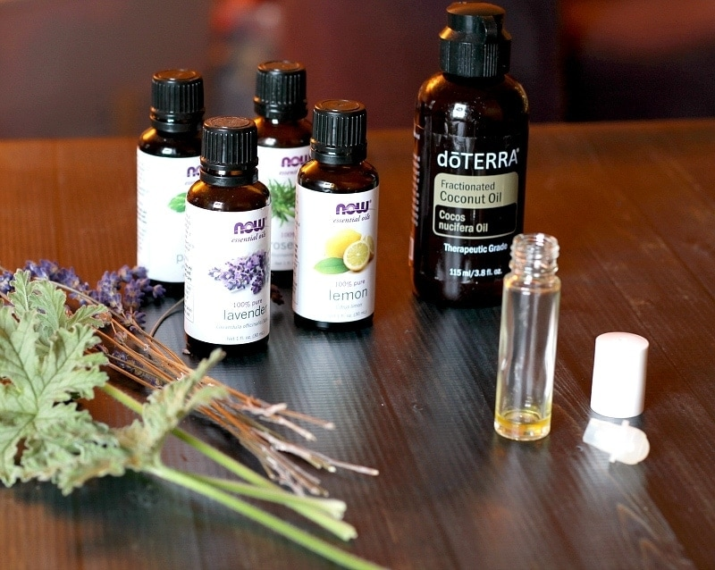 Perfume oil ingredients essential oils and coconut oil