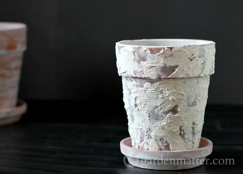 Plaster Pot - faux age pots - gardenmatter.com