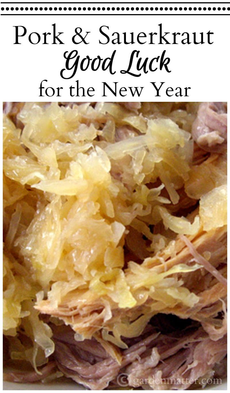 Pork and Sauerkraut on New Years Day for Good Luck