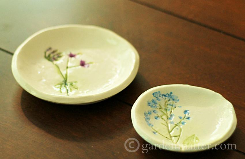 Handmade Pressed Flower Jewelry Dish