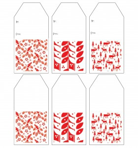 Red & White Gift Tags ~gardenmatter.com