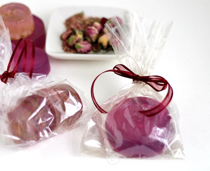 Rose Petal Glycerin Soap - gardenmatter.com
