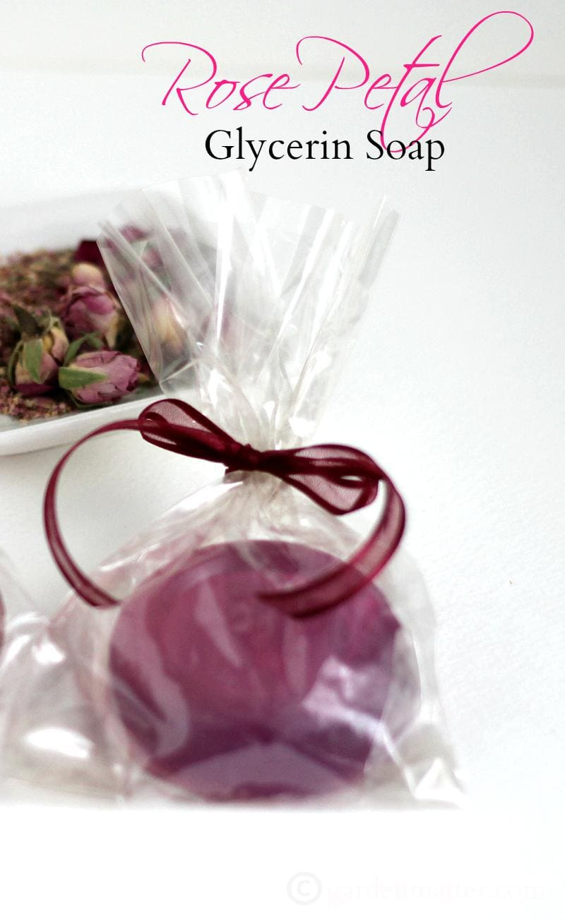 Rose Petal Glycerin Soap single - gardenmatter.com